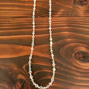 "34"" necklace.  Pair up with choker necklace!"
